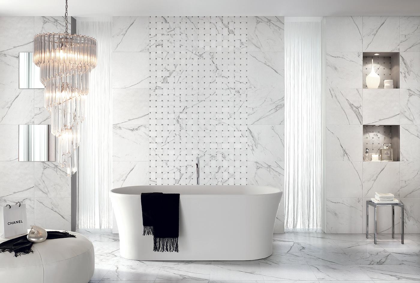 Marmo pietra sichenia - Finto mosaico bagno ...